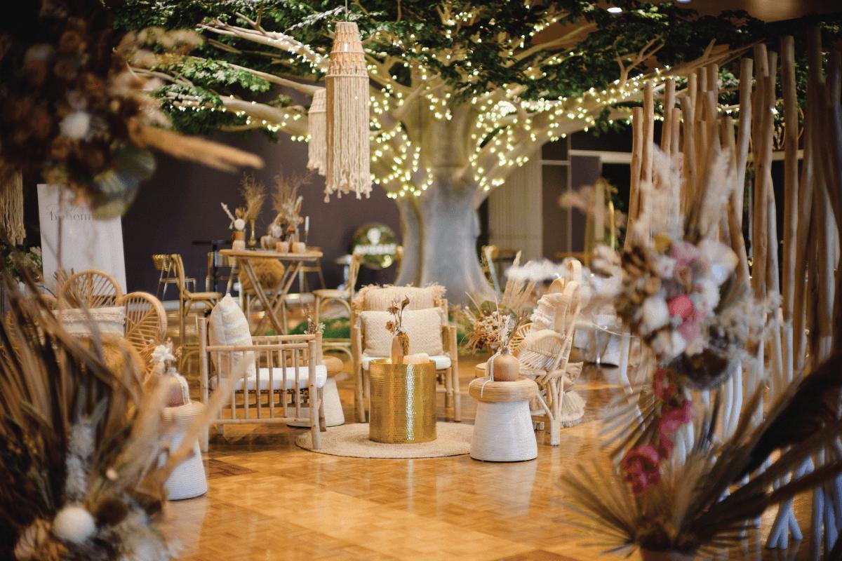 Amazing wedding set-up at the greek club