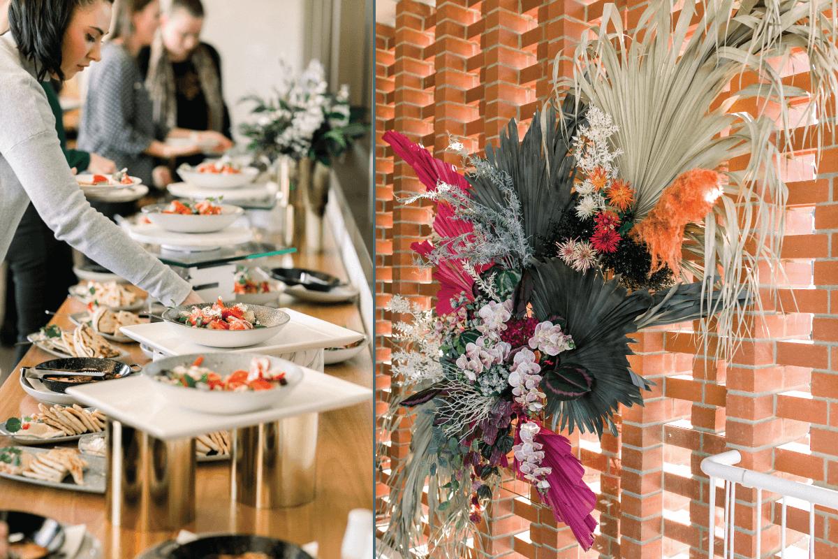 buffet wedding food at the greek club