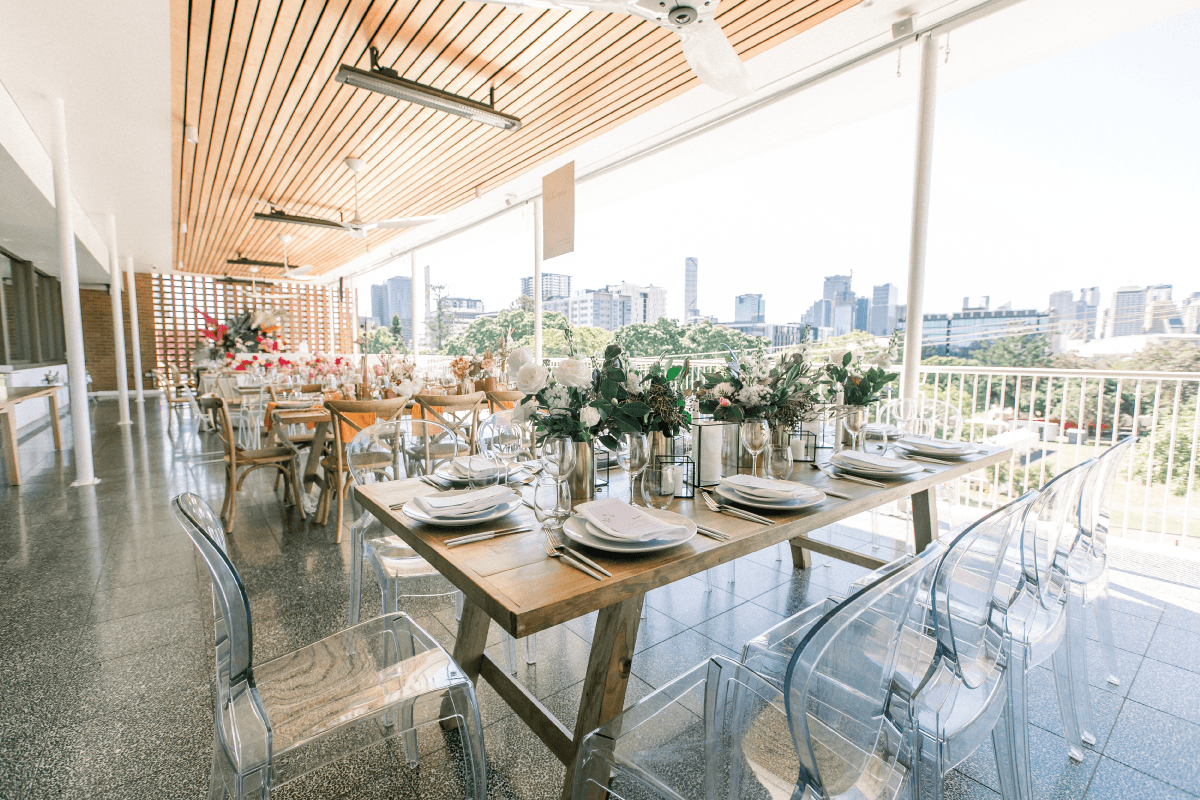 Wedding venue with views of brisbane river